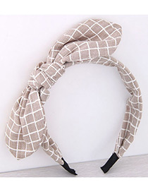 Fashion Coffee Bowknot Shape Decorated Pure Color Hair Hoop