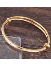 Fashion Gold Color Pure Color Decorated Simple Bracelet