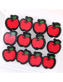 Lovely Red Apple Decorated Earrings