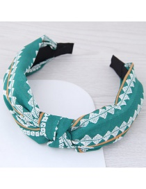 Fashion Green Flower Pattern Decorated Hair Hoop