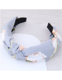 Fashion Light Gray Flower Pattern Decorated Hair Hoop