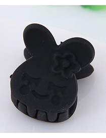 Lovely Black Little Bear Decorated Pure Color Hair Claw
