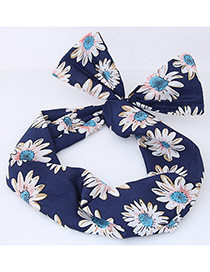Fashion Navy Daisy Shape Decorated Hair Band