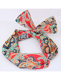 Lovely Multi-color Flower Pattern Decorated Hair Band