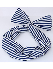 Lovely Navy Color-matching Decorated Hair Band