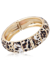 Personality Multi-color Leopard Pattern Decorated Bracelet