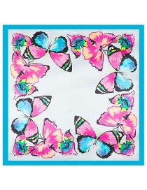 Fashion Blue Butterfly Pattern Decorated Simple Scarf