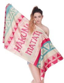 Fashion Multi-color Letter Pattern Decorated Simple Bathrobes Towel