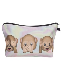 Fashion Multi-color Monkey Pattern Decorated Simple Handbag
