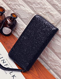 Fashion Black Square Shape Decorated Wallet
