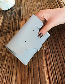 Lovely Light Gray Elephant Shape Decorated Pure Color Wallet