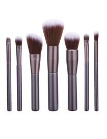 Fashion Dark Gray Pure Color Decorated Brush (7pcs)