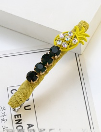 Fashion Yellow Pineapple Shape Decorated Hairpin
