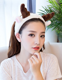 Cute White Cornu Gorais Decorated Washing Face Hair Band