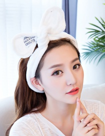 Cute White Bowknot Decorated Washing Face Hair Band