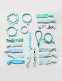 Fashion Blue Color Matching Decorated Hair Band (20pcs+box)