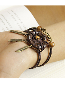 Bohemia Brown Aeolian Bells Decorated Bracelet
