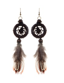 Bohemia Brown Aeolian Bells Decorated Earrings
