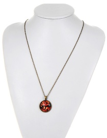 Fashion Red Dinosaur Pattern Decorated Necklace