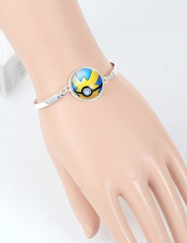 Fashion Yellow+blue Poke Ball Decorated Bracelet