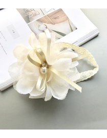 Lovely Light Yellow Flower Shape Decorated Hair Band