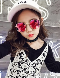 Fashion Red Pure Color Decorated Sunglasses