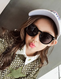 Fashion Black Color-matching Decorated Sunglasses