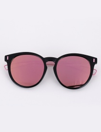 Fashion Pink Color-matching Decorated Sunglasses