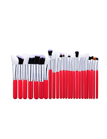 Fashion Brown Pure Color Decorated Brush (25pcs)
