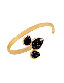 Fashion Gold Color Water Drop Shape Decorated Simple Bracelet