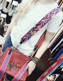 Fashion Multi-color Stripe Pattern Decorated Simple Bag Strap