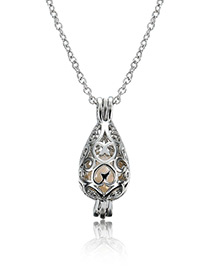 Fashion Silver Color Pure Color Decorated Hollow Out Necklace