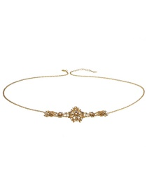 Elegant Champagne Diamond Decorated Simple Body Chain