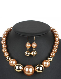 Exaggerate Coffee Color-matching Decorated Jewelry Sets