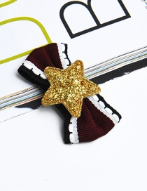 Fashion Gold Color Star Shape Decorated Children Hairpin