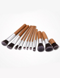 Fashion Brown Color-matching Decorated Brush