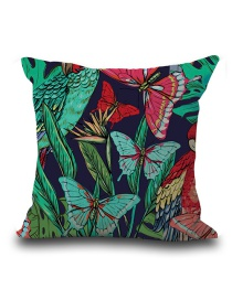 Fashion Multi-color Butterfly Pattern Decorated Simple Pillowcase