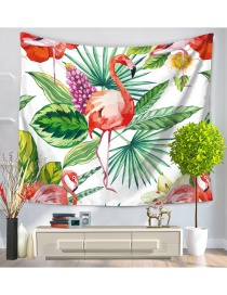 Fashion White Flamingo Pattern Decorated Simple Blanket
