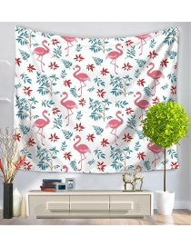 Fashion Multi-color Flamingo&tree Pattern Decorated Simple Blanket