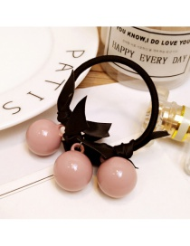 Fashion Pink Bowknot&beads Decorated Hair Band