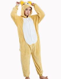 Fashion Yellow Bear Shape Decorated Simple Nightgown