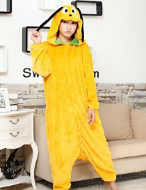 Fashion Yellow Little Yellow Dog Shape Decorated Simple Nightgown