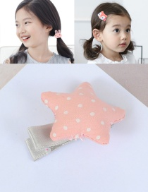 Fashion Pink Star Shape Decorated Simple Hair Pin