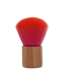 Fashion Red Sector Shape Decorated Simple Makeup Brush