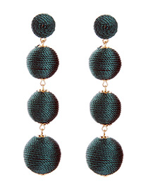 Fashion Navy Ball Shape Decorated Simple Earrings