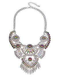 Fashion Diamond Diamond Decorated Simple Necklace