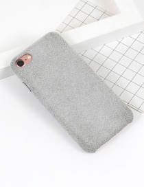 Fashion Gray Pure Color Decorated Simple Iphone7 Case