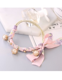 Lovely Pink Round Balls Decorated Simple Hair Band