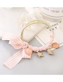 Lovely White+pink Starfish&bowknot Decorated Hair Band