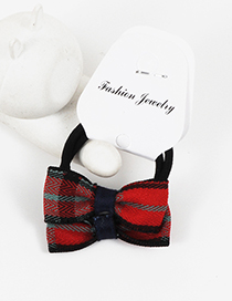 Lovely Red Bowknot Shape Decorated Hair Band(2pcs)